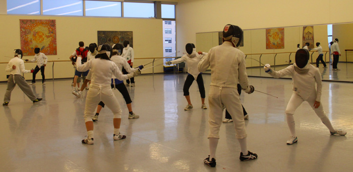 Friday night fencing class